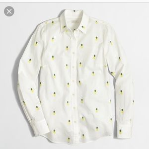 Jcrew classic button up shirt pineapple print